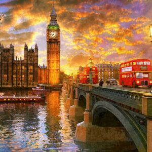 Westminster Sunset 1000 Piece Puzzle - Anatolian
