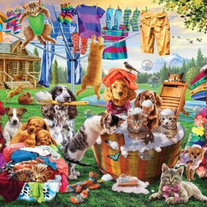 EZ Grip - Laundry Day Rascals 1000 Larger Piece Puzzle - Masterpieces
