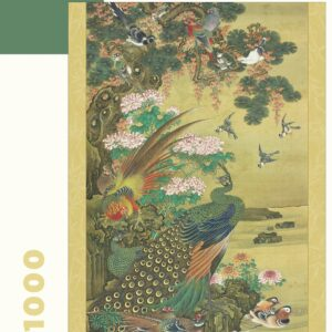 Birds & Flowers - Japanese Hanging Scroll 1000 Piece Puzzle - Pomegranate