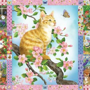 Blossoms & Kittens Quilt 1000 Piece Jigsaw Puzzle - Cobble Hill