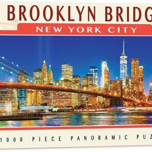Brooklyn Bridge NYC 1000 Piece Panoramic Jigsaw Puzzle - Masterpieces