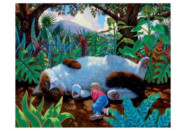 Charles Lynn Bragg - Wonderland Cat 300 Larger Piece Puzzle - Pomegranate