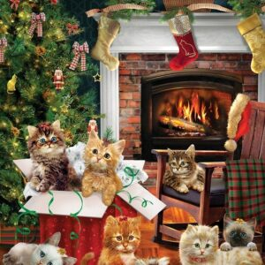 Christmas Kittens 1000 Piece Puzzle - Cobble Hill
