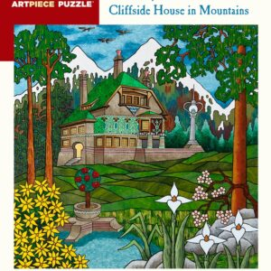 Cliffside House in Mountains 500 Piece Jigsaw Puzzle - Pomegranate