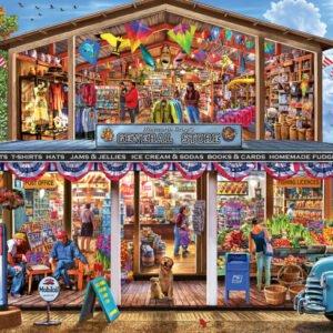 EZ Grip Cutaway - Hometown Market 1000 Piece Puzzle - Masterpieces