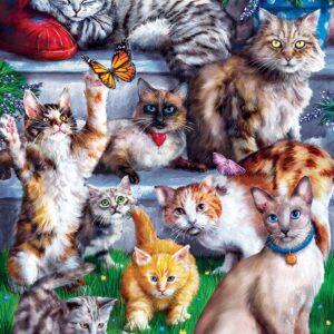 Furry Friends - Butterfly Chasers 1000 Piece Puzzle - Masterpieces