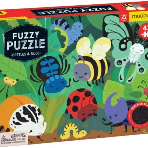 Fuzzy Puzzle - Beetles & Bugs 42 Piece Puzzle - Mudpuppy