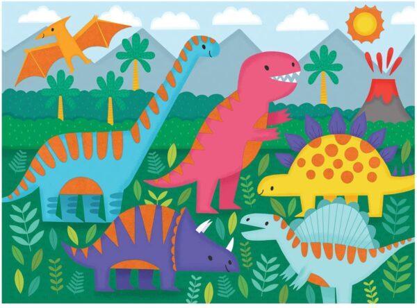 Fuzzy Puzzle - Dinosaurs 24 Piece Puz