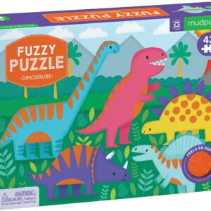Fuzzy Puzzle - Dinosaurs 24 Piece Puzzle - Mudpuppy
