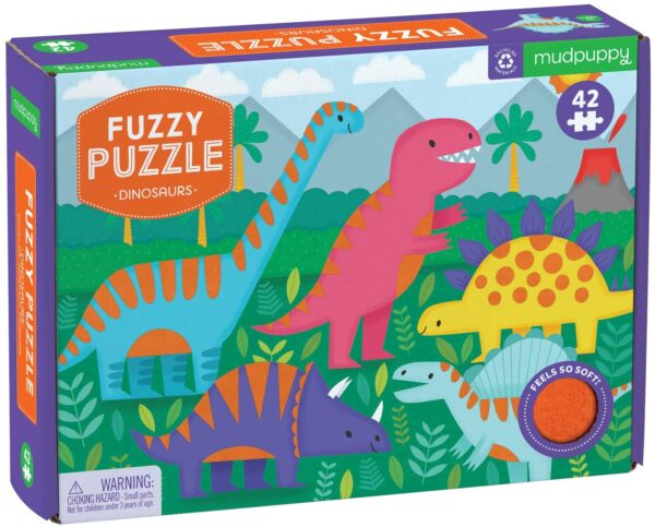 Fuzzy Puzzle - Dinosaurs 24 Piece Puzzle - Mudpuppy