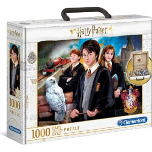 Harry Potter and the Chamber of Secrets Brief Case 1000 Piece Puzzle - Clementoni