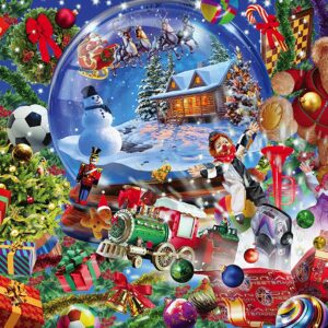 Holiday Glitter Snow Globe Dreams 500 Piece Puzzle - Masterpieces