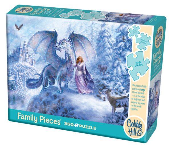 Ice Dragon 350 Piece Family Puzzle - Cobble Hill