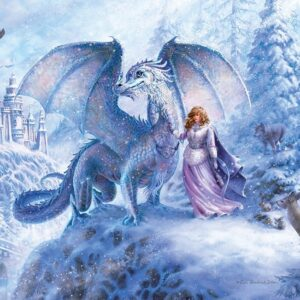 Ice Dragon 350 Piece Family Puzzle - Cobble Hill