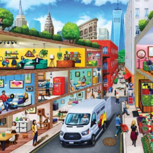 Inside Out - City Living 1000 Piece Puzzle - Masterpieces