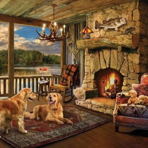 Lakeside Cabin 1000 Piece Jigsaw Puzzle - Cobble Hill