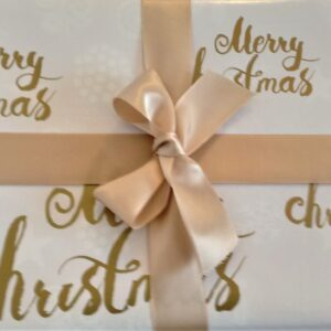 Merry Christmas Gold on White