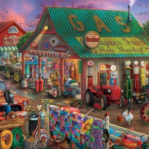 Pickup & Produce - Antique Barn 500 XL Piece Puzzle - Holdson