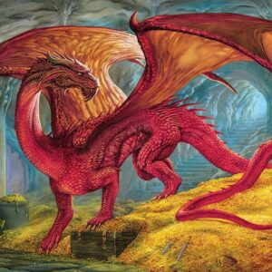 Red Dragon's Treausre 1000 Piece Jigsaw Puzzle - Cobble Hill