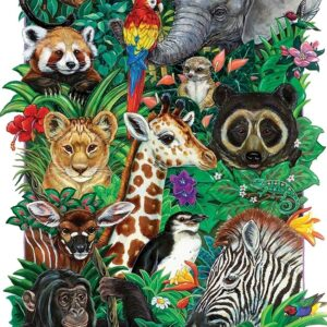 Safari Babies 350 Piece Family Puzzle - Cobble Hill