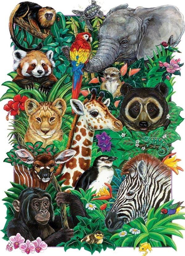 Safari Babies 350 Piece Family Puzzle - Cobble Hill