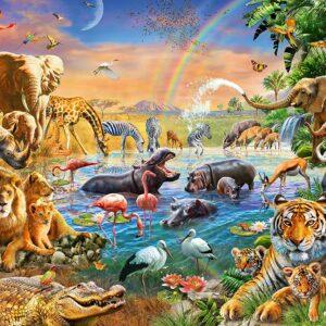 Savannah Jungle Waterhole 100 Piece Puzzle - Ravensburger