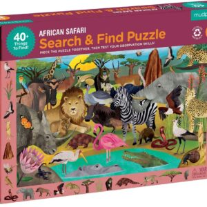Search and Find - African Safari 64 Piece Puzzle - Mudpuppy