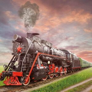 Steam Locomotive 2000 Piece Jigsaw Puzzle - Educa
