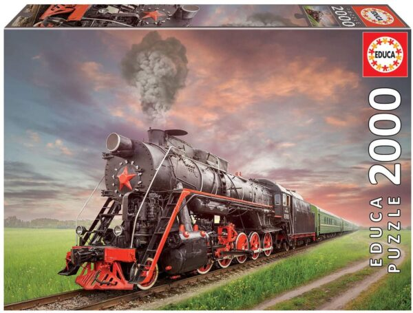 Steam Locomotive 2000 Piece Jigsaw Puzzle - Educa