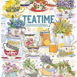 Tea Time 1000 Piece Jigsaw Puzzle - Cobble Hill