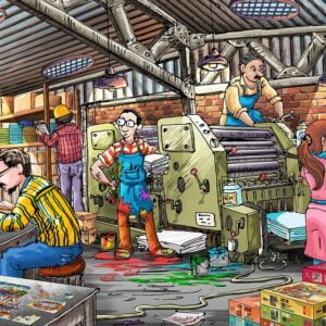 The Puzzle Factory 1000 Piece Jigsaw Puzzle - Funbox