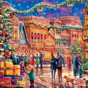 Village Square 1000 Piece Puzzle - Masterpieces