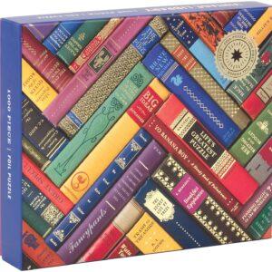 Vintage Library Foil Puzzle 1000 Piece - Galison