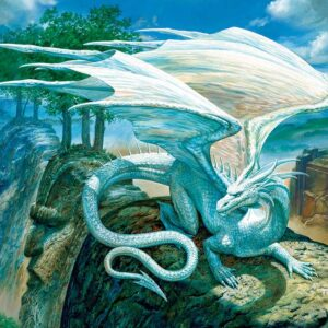 White Dragon 500 Piece Jigsaw Puzzle - Cobble Hill