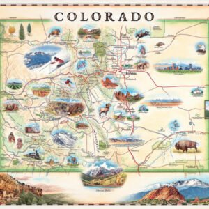 Xplorer Maps - Colorado 1000 Piece Puzzle - Masterpieces