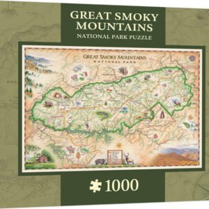 Xplorer Maps - Great smoky Mountains National Park 1000 Piece Puzzle - Masterpieces