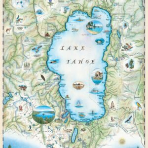 Xplorer Maps - Lake Tahoe 1000 Piece Puzzle - Masterpieces