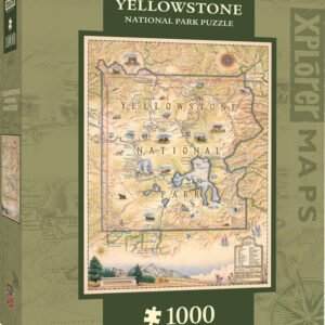 Xplorer Maps - Yellowstone National Park 1000 Piece Puzzle - Masterpieces