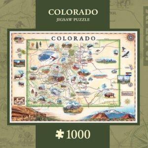 Xplorers Map - Colorado 1000 Piece Puzzle - Masterpieces
