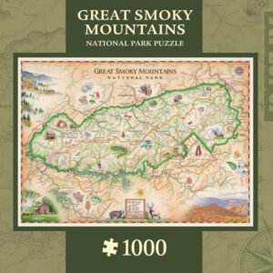 Xplorers Map - Great Smoky Mountain 1000 Piece Puzzle - Masterpieces