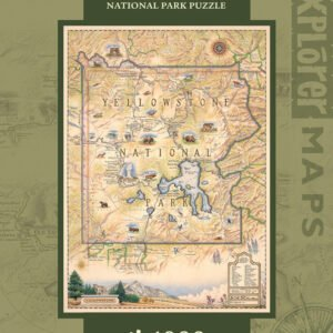 Xplorers Map - Yellowstone National Park 1000 Piece Puzzle - Masterpieces