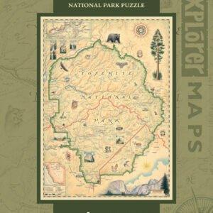 Xplorers Map - Yosemite 1000 Piece Puzzle - Masterpieces