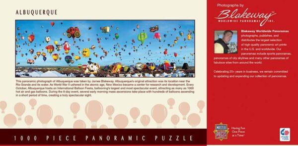 Albuquerque New Mexico 1000 Piece Panoramic Puzzle - Masterpieces