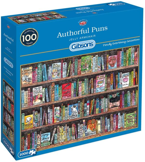 Authorful Puns 1000 Piece Puzzle - Gibsons