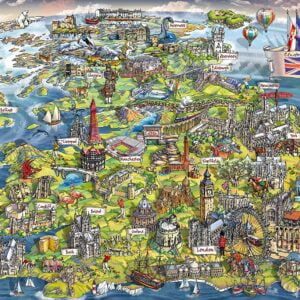 Beautiful Britain 1000 Piece Puzzle - Gibsons