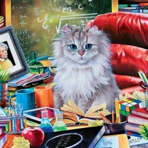 Cat-ology Einstein 1000 Piece Puzzle - Masterpieces