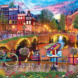 Color Scapes - Amsterdam Lights 1000 Piece Puzzle - Masterpieces