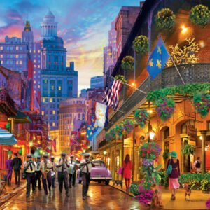 Color Scapes - New Orleans Style 1000 Piece Puzzle - Masterpieces