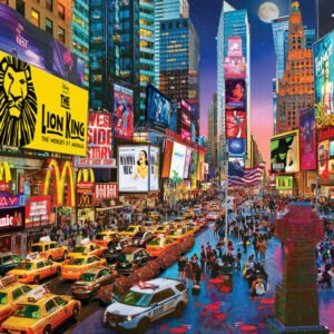 Color Scapes - New York Times Square Showtime 1000 Piece Puzzle - Masterpieces