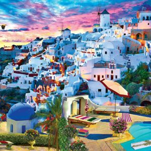 Color Scapes - Santorini Sky 1000 Piece Puzzle - Masterpieces